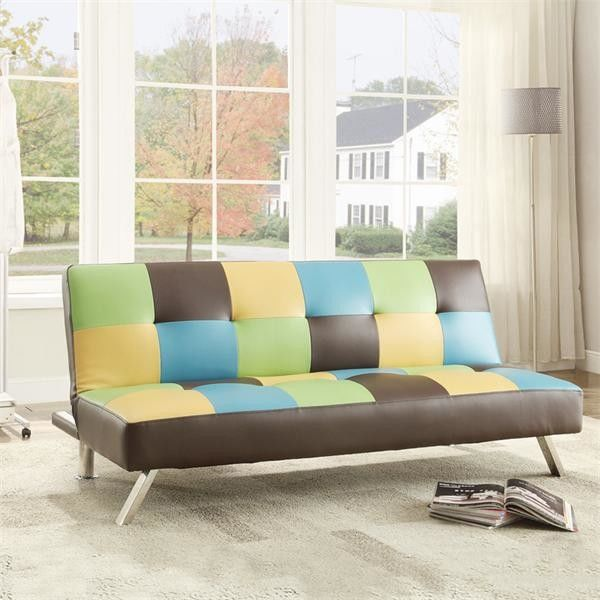 Colorful Fold Up Sleeping Sofa Bed Office , Living Room Hideaway Bed Couch 22kg