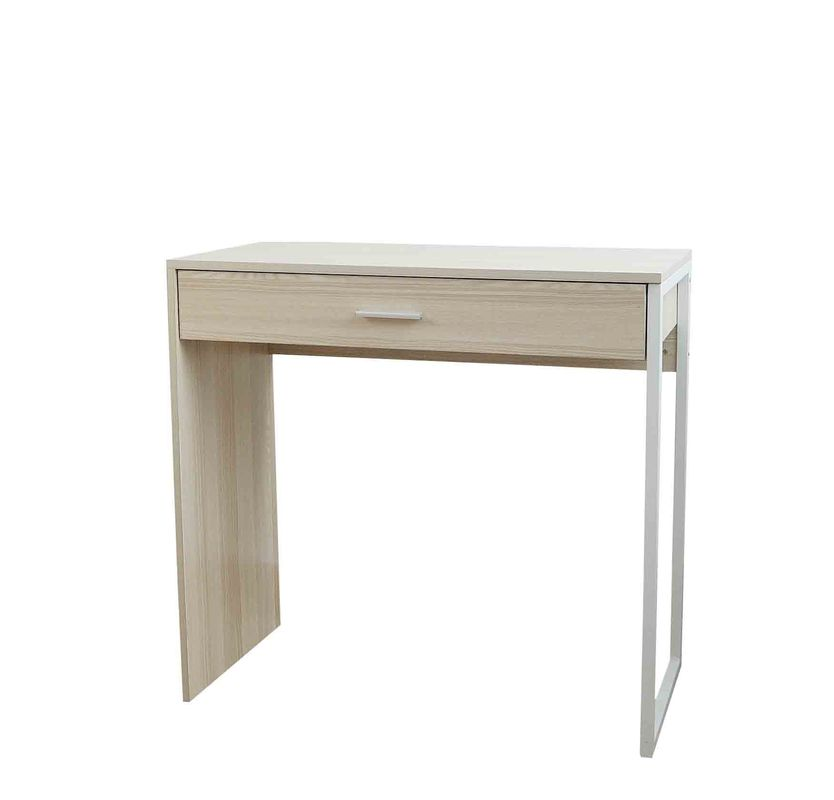 Metal Side Desktop Computer Desk , Wooden Office Computer Table Large Storage Drawer