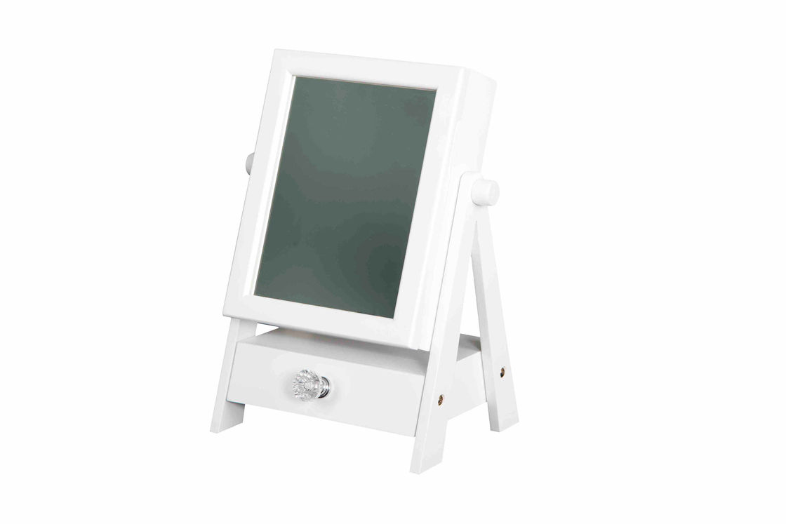 Multi Function White Home Wood Furniture Mirror Jewelry Cabinet W22.5*D17*H30CM