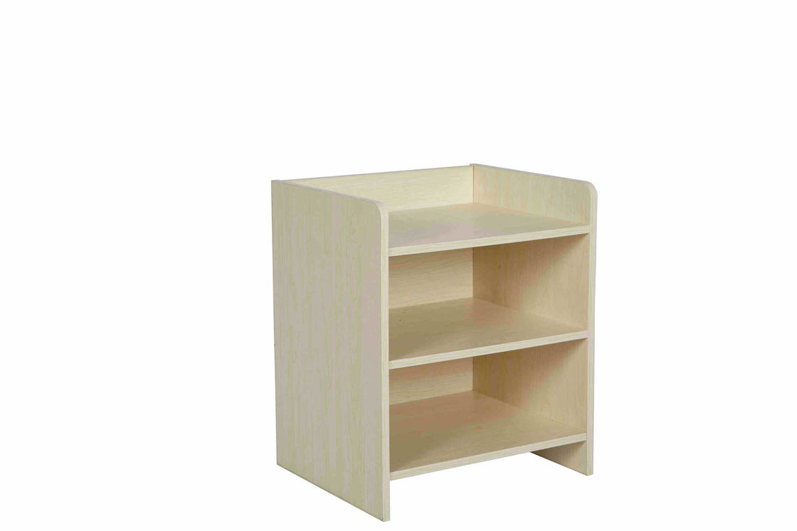 Durable Wooden White Small Night Stands 3 Tier Shelves Environment Friendly