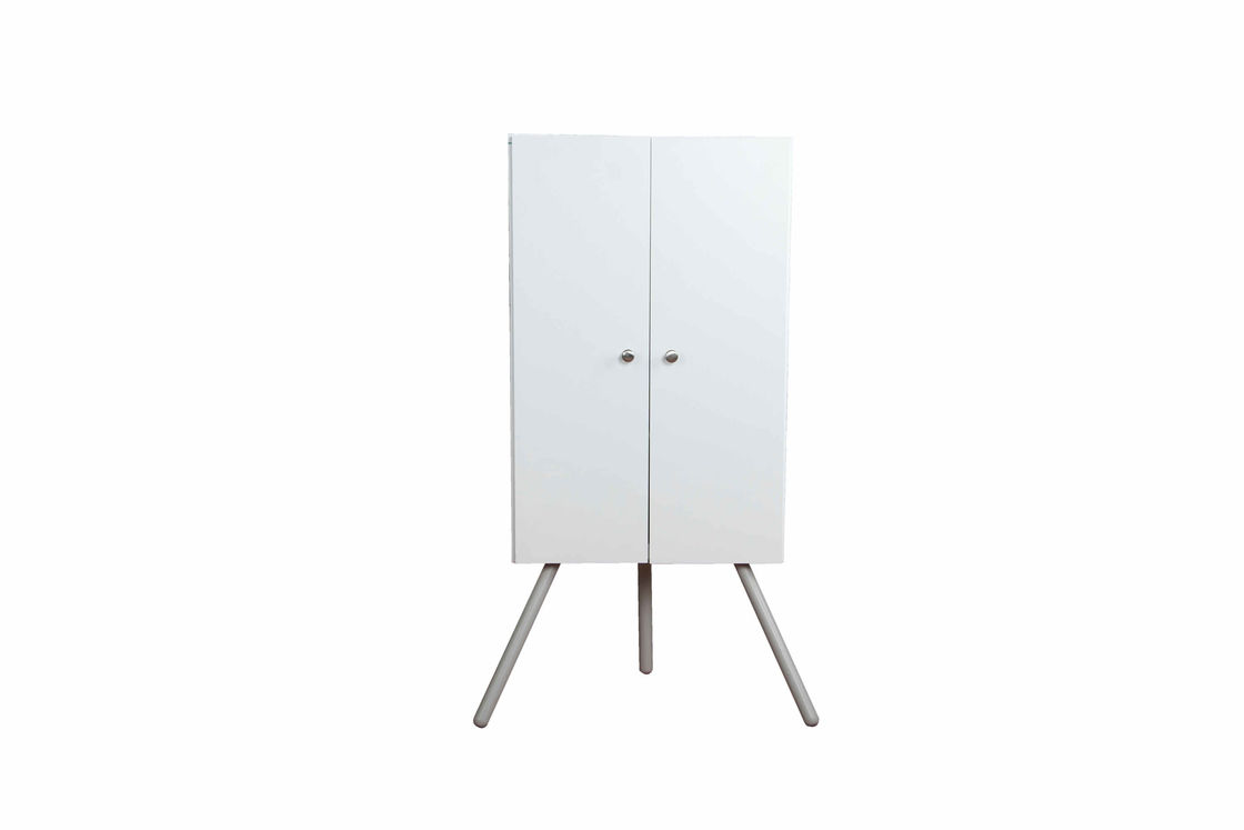 Durable Cube Small Corner Cabinet  Adjustable Panel With Doors / Legs 15KG