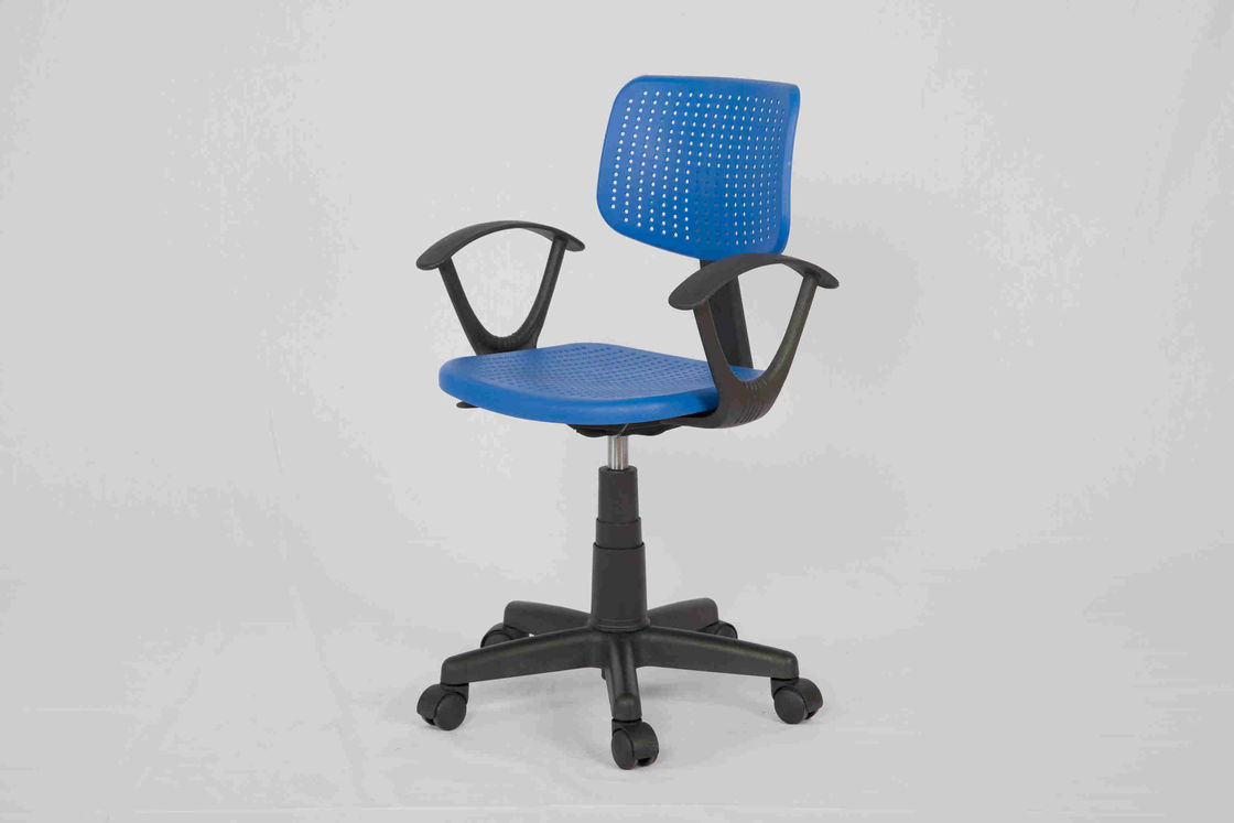 Ergonomic Student Computer Chair With Plastic Seat , Low Back Computer Desk Chair