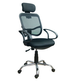 Durable Adjustable Home Office Computer Chair With Headrest / Mesh Back