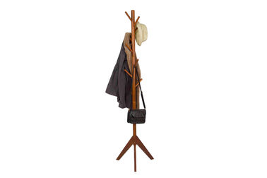 Durable Wooden Coat Hanger Stand Rack With 9 Hooks Tree Branches Design